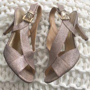 MICHAEL Michael Kors Becky Glitter Sandals - 8.5